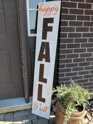 Happy Fall Yall Welcome Sign Design by Toni Dent